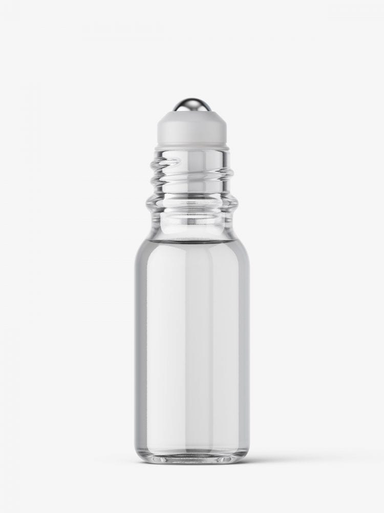 Small roll-on bottle mockup / clear
