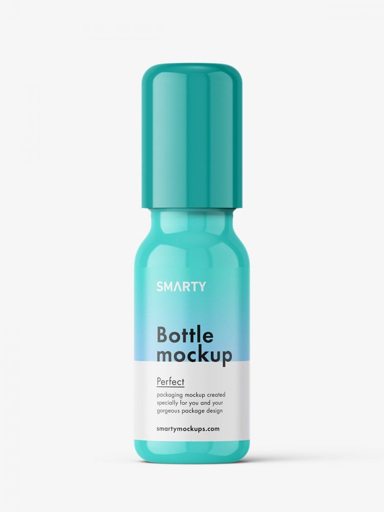 Small roll-on bottle mockup / glossy