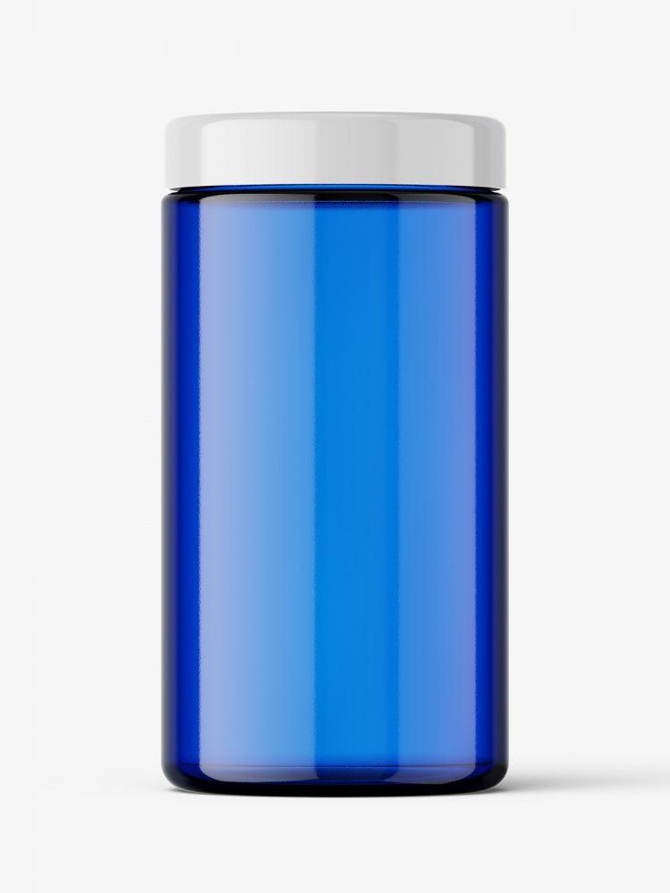 Universal jar mockup / blue