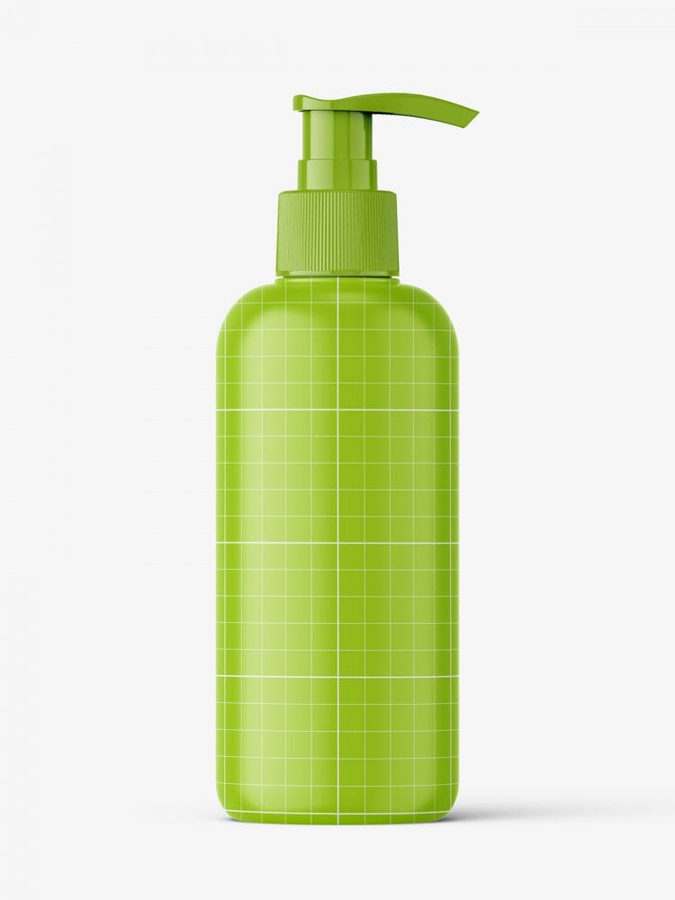 Cosmetic bottle with pump mockup / clear