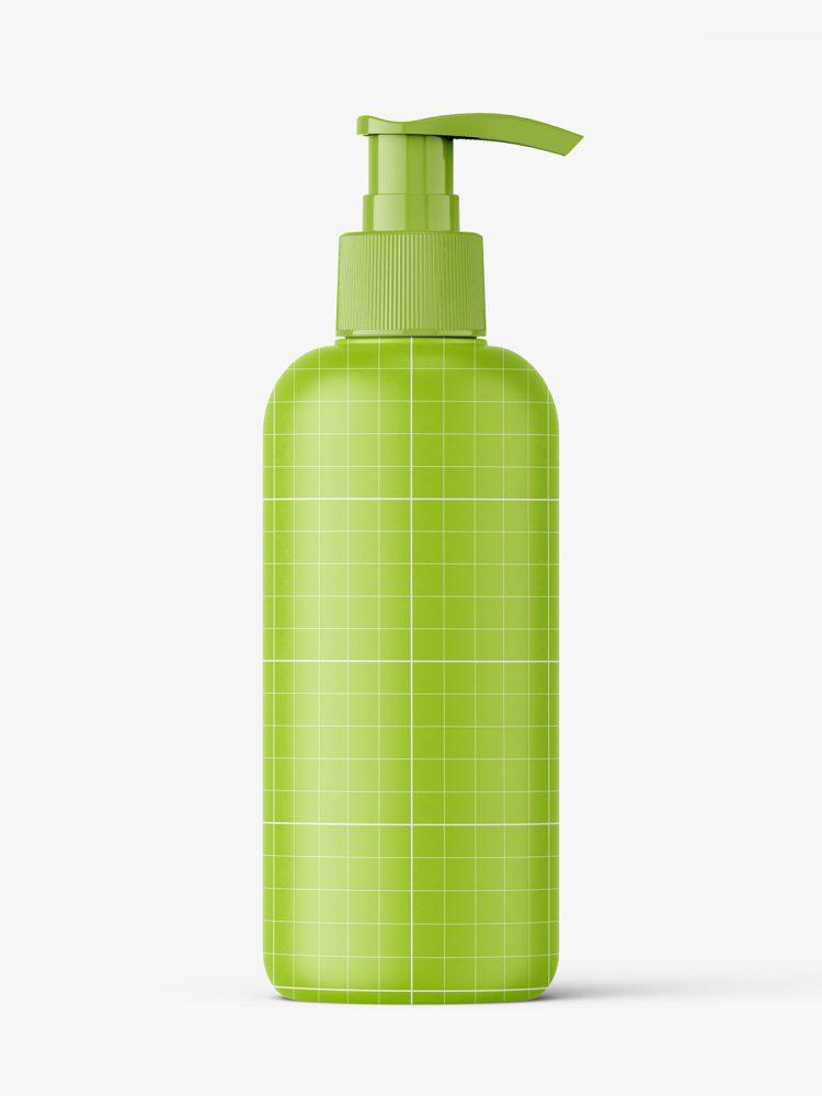 Cosmetic bottle with pump mockup / matt