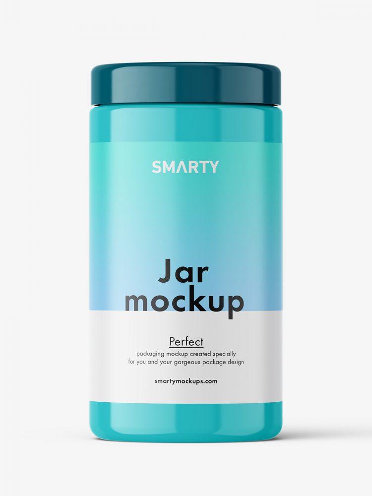 Universal jar mockup / glossy