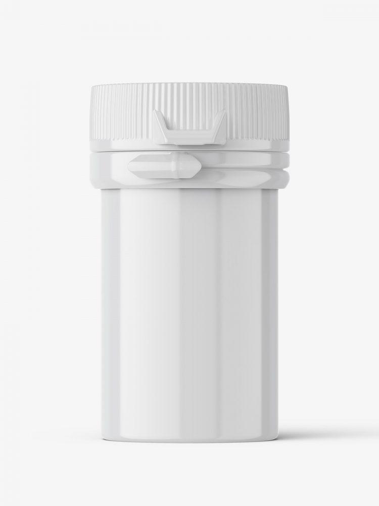 Small pharmaceutical jar mockup / glossy