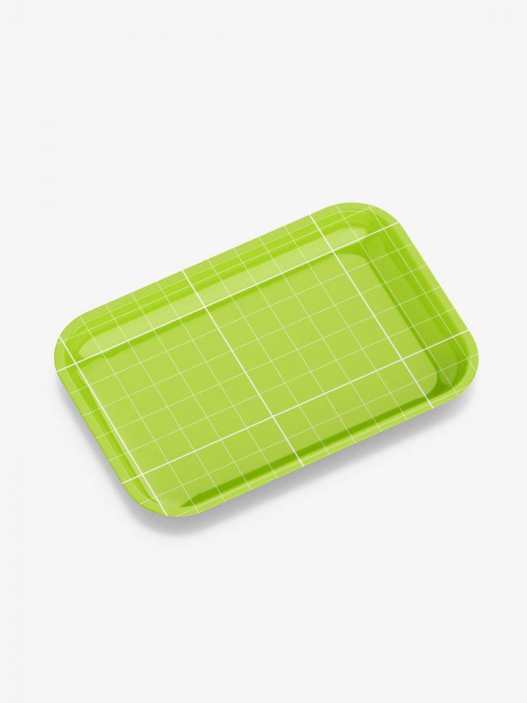 Plastic tray mockup / glossy