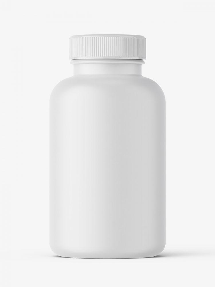 Matt pharmaceutical jar mockup