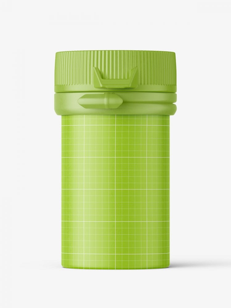 Small pharmaceutical jar mockup / matt