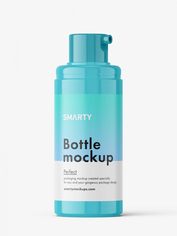 Small airless bottle mockup / glossy