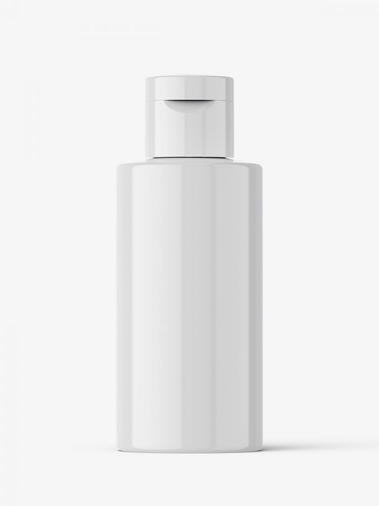Small bottle with flip top mockup / glossy
