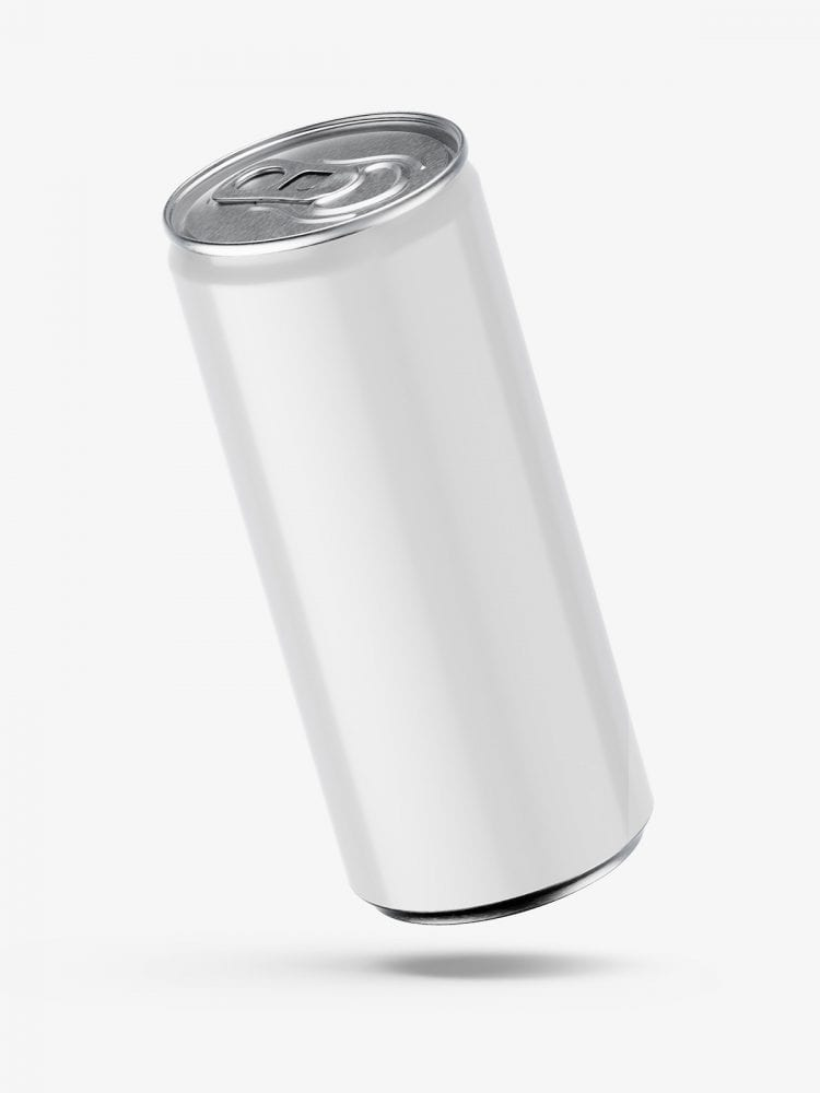 Glossy energy drink mockup