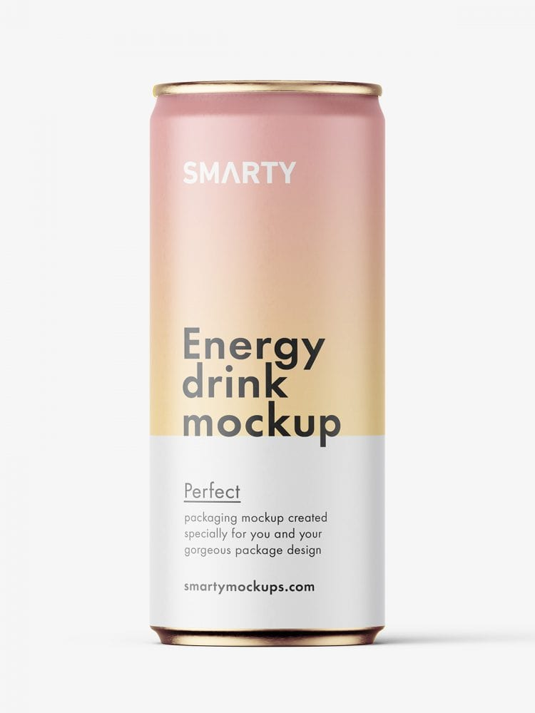 Matt energy drink mockup