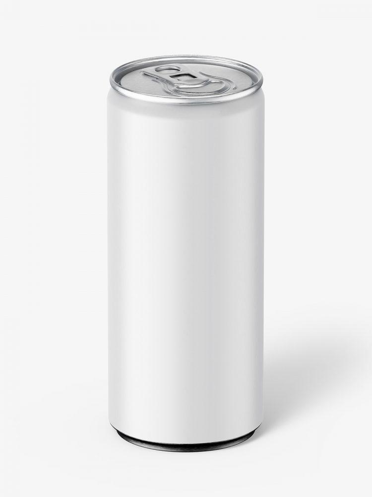 Matt energy drink mockup