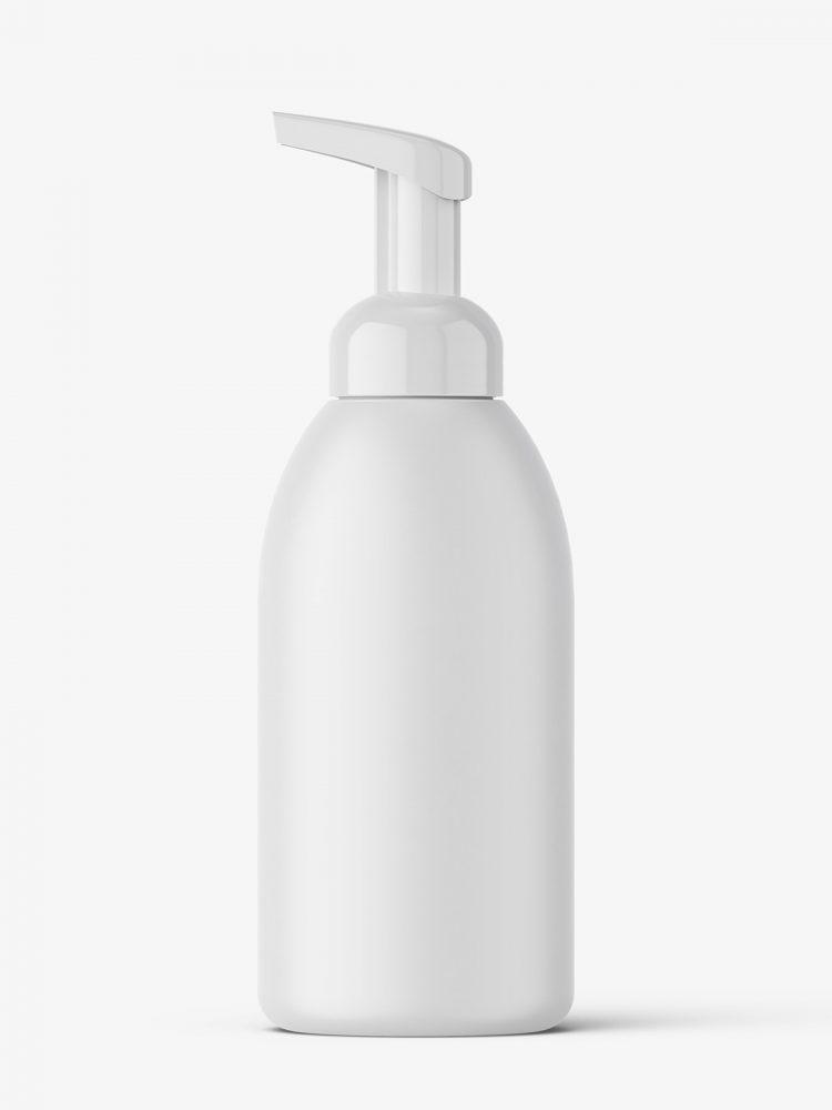 Matt foamer bottle mockup