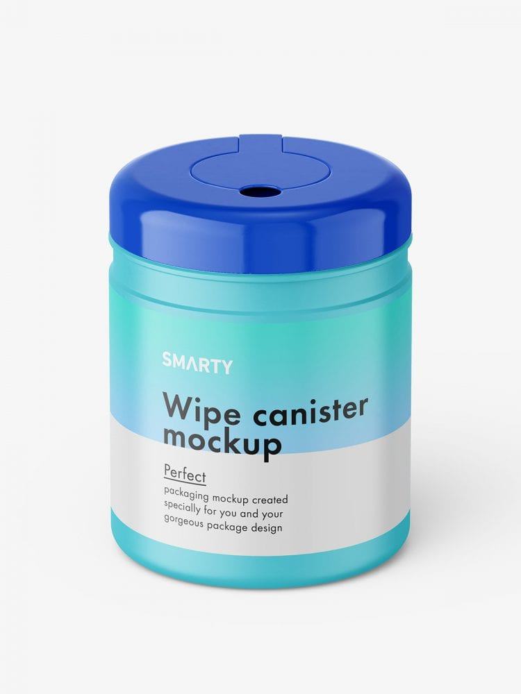 Wipe canister mockup / glossy