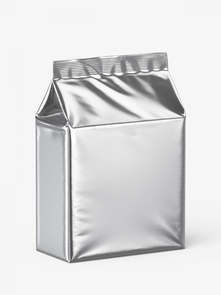 Universal bag mockup / metallic