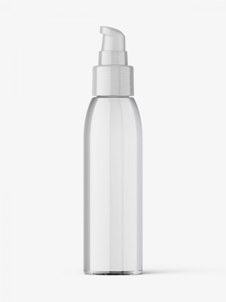 Airless bottle mockup / clear