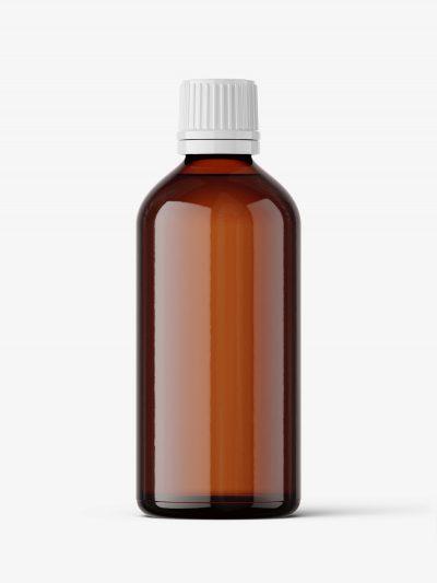 Amber bottle mockup 100 ml