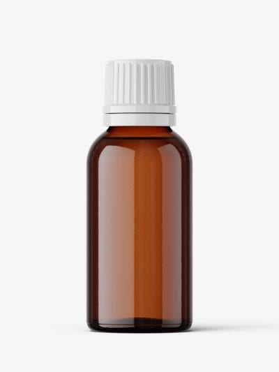 Amber bottle mockup 30 ml
