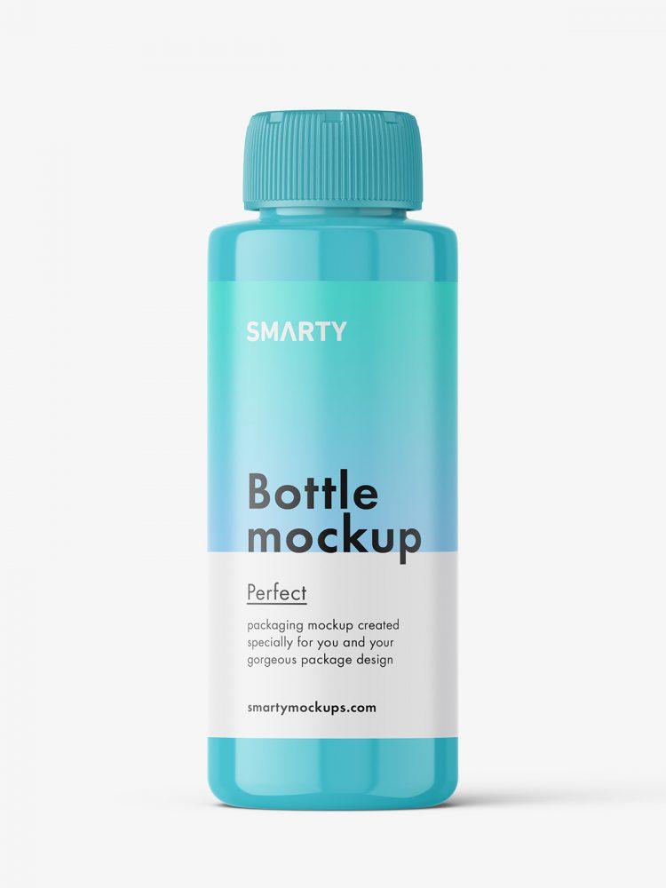 Powder bottle mockup / glossy