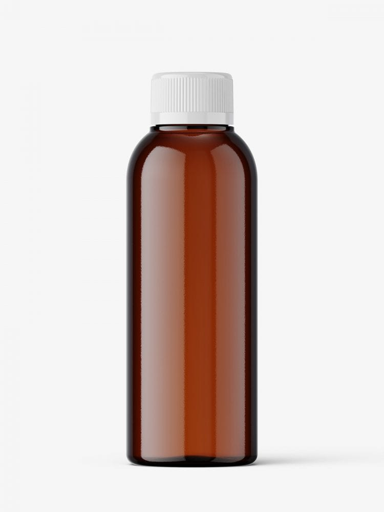 Small bottle mockup / amber