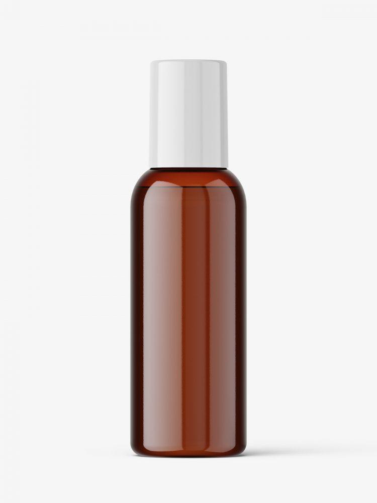 Small cosmetic bottle mockup / amber