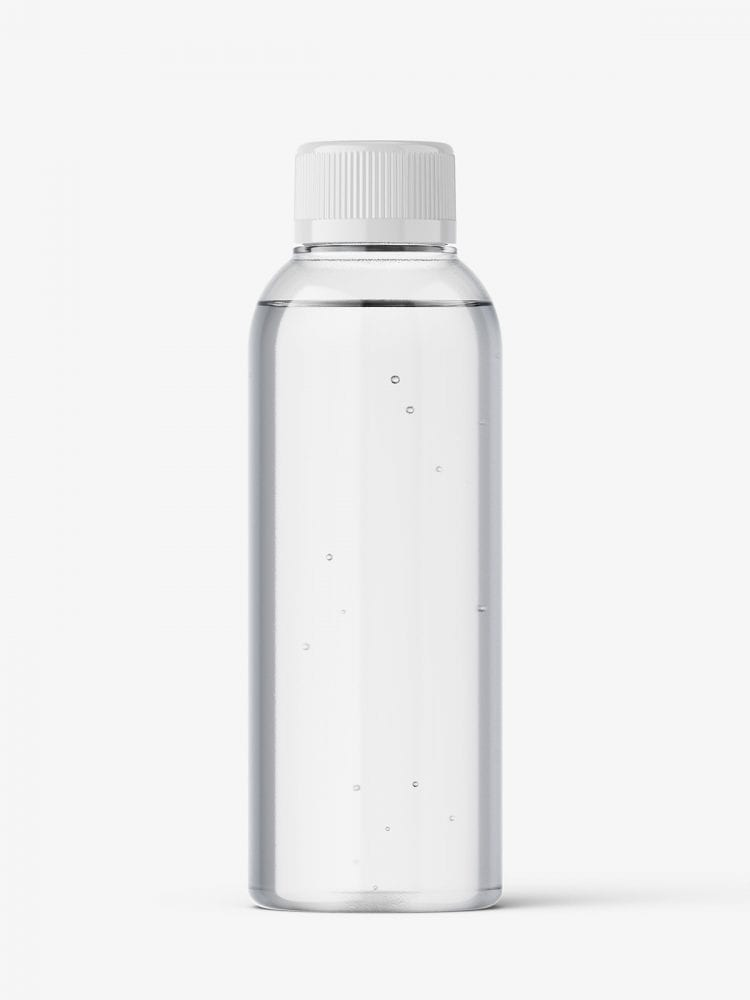 Small bottle mockup / clear
