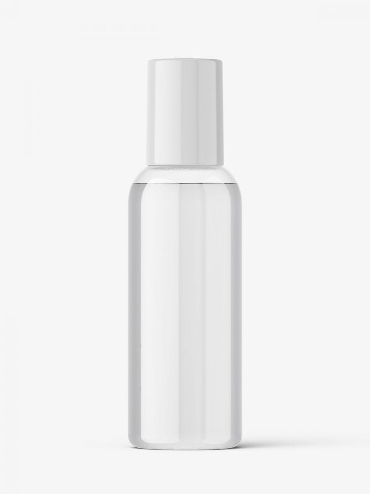 Small cosmetic bottle mockup / clear