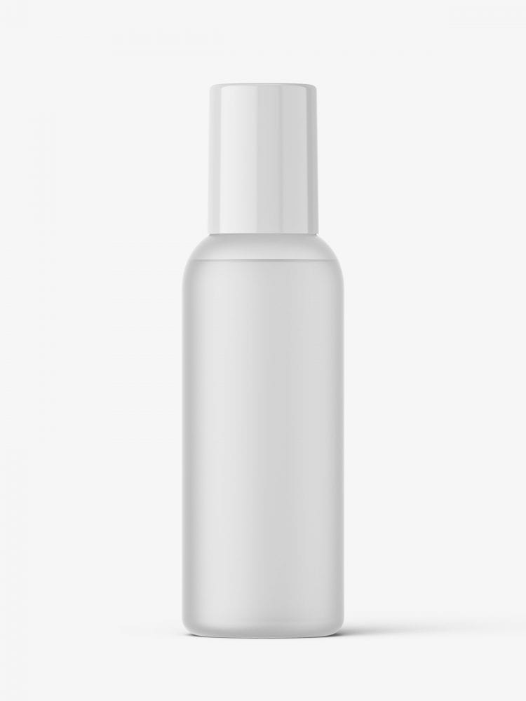 Small cosmetic bottle mockup / frosted