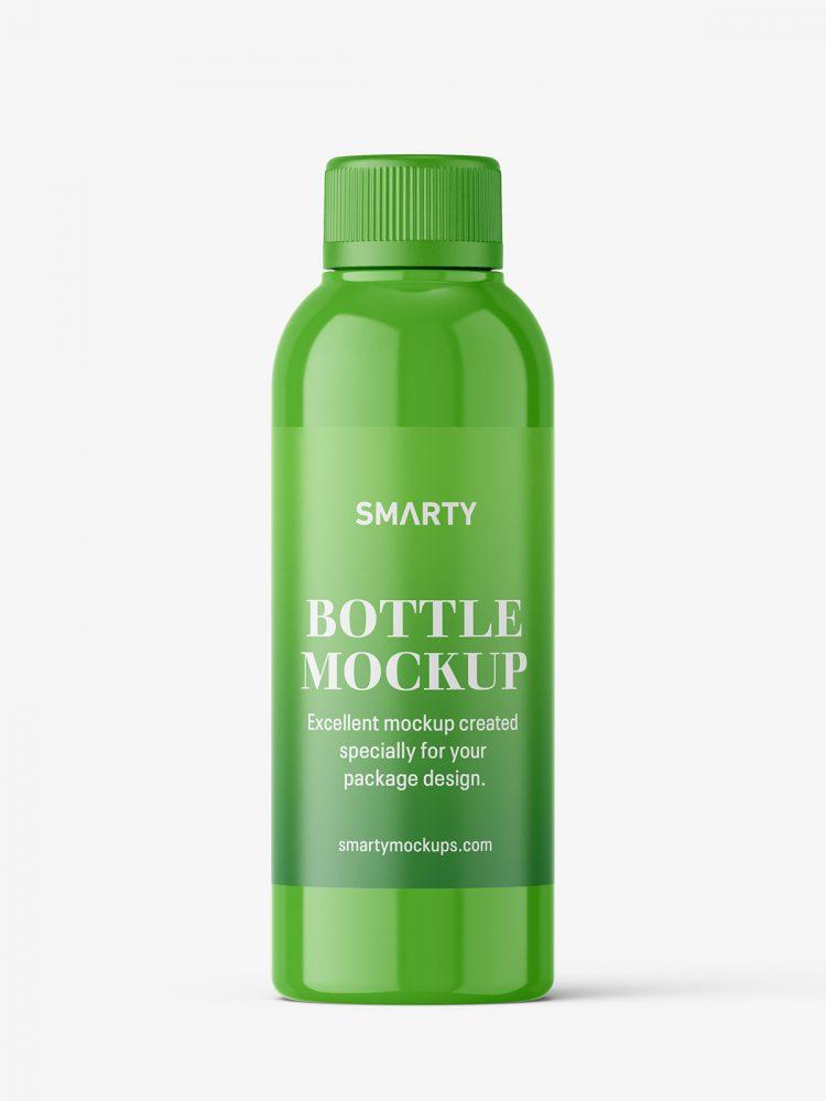 Small bottle mockup / glossy