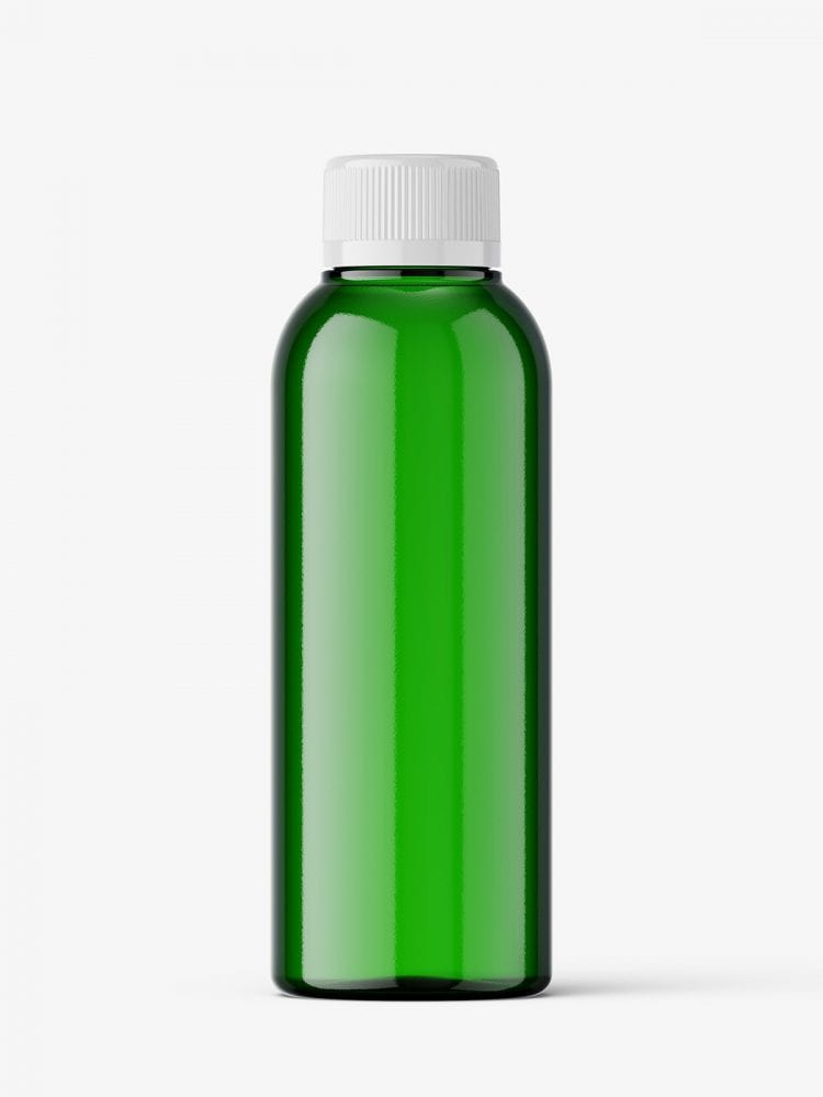 Small bottle mockup / green