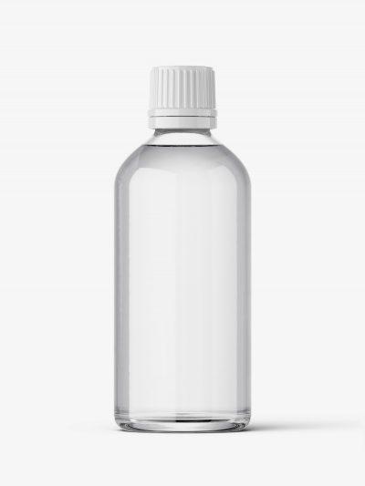 Clear bottle mockup 100 ml