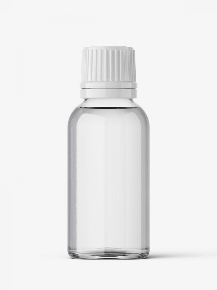 Clear bottle mockup 30 ml