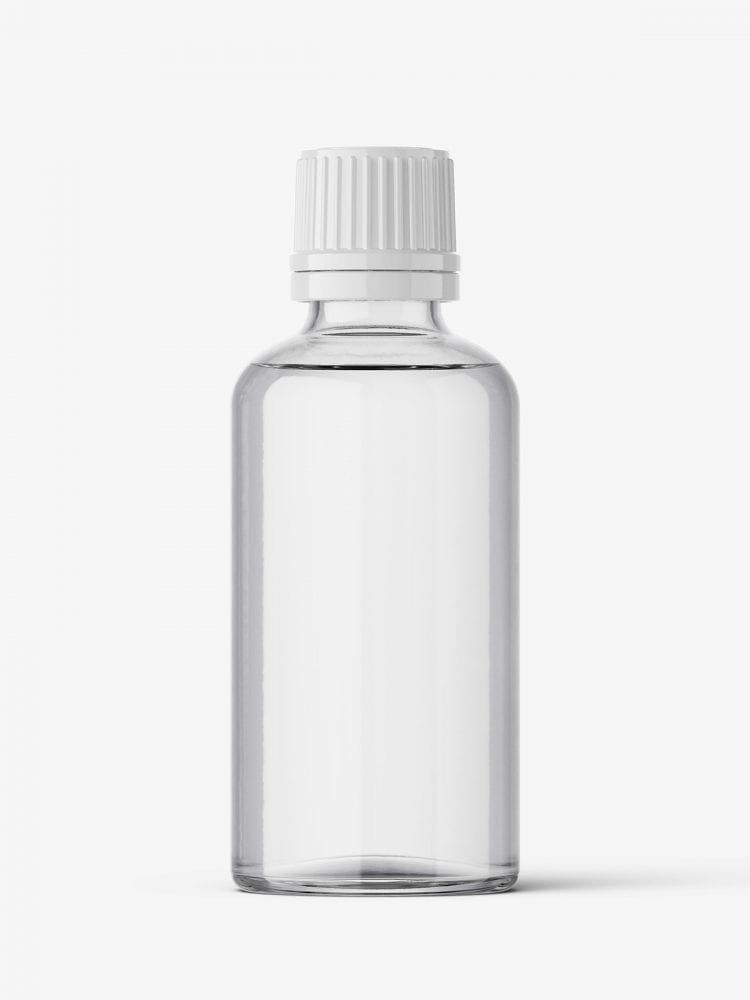 Clear bottle mockup 50 ml