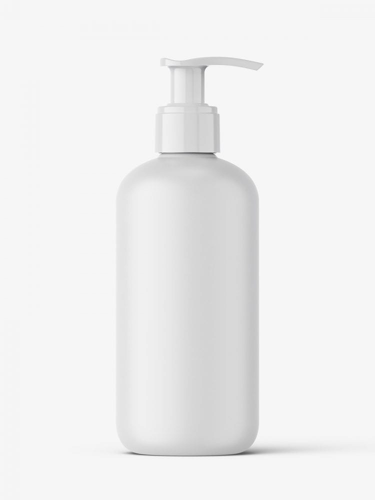 Matt pump bottle mockup