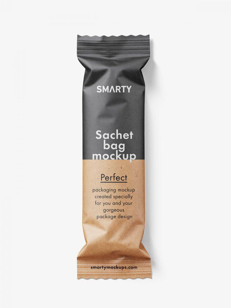 Small paper bag mockup / kraft paper