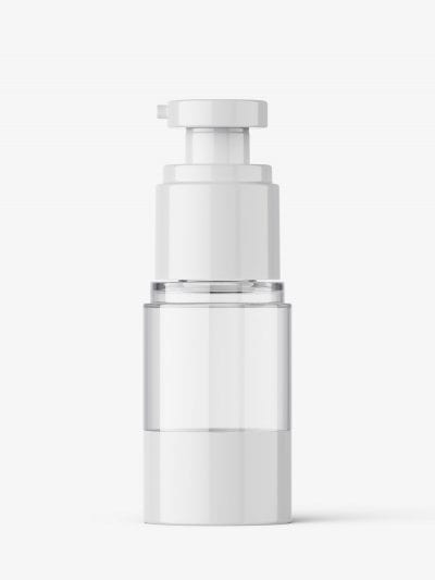 Airless bottle mockup / clear glass / 15 ml