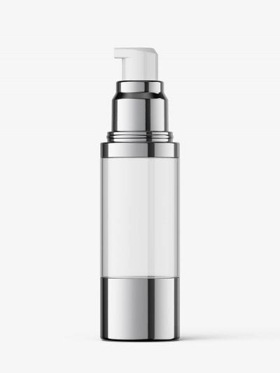 Airless bottle mockup / clear glass / 50 ml