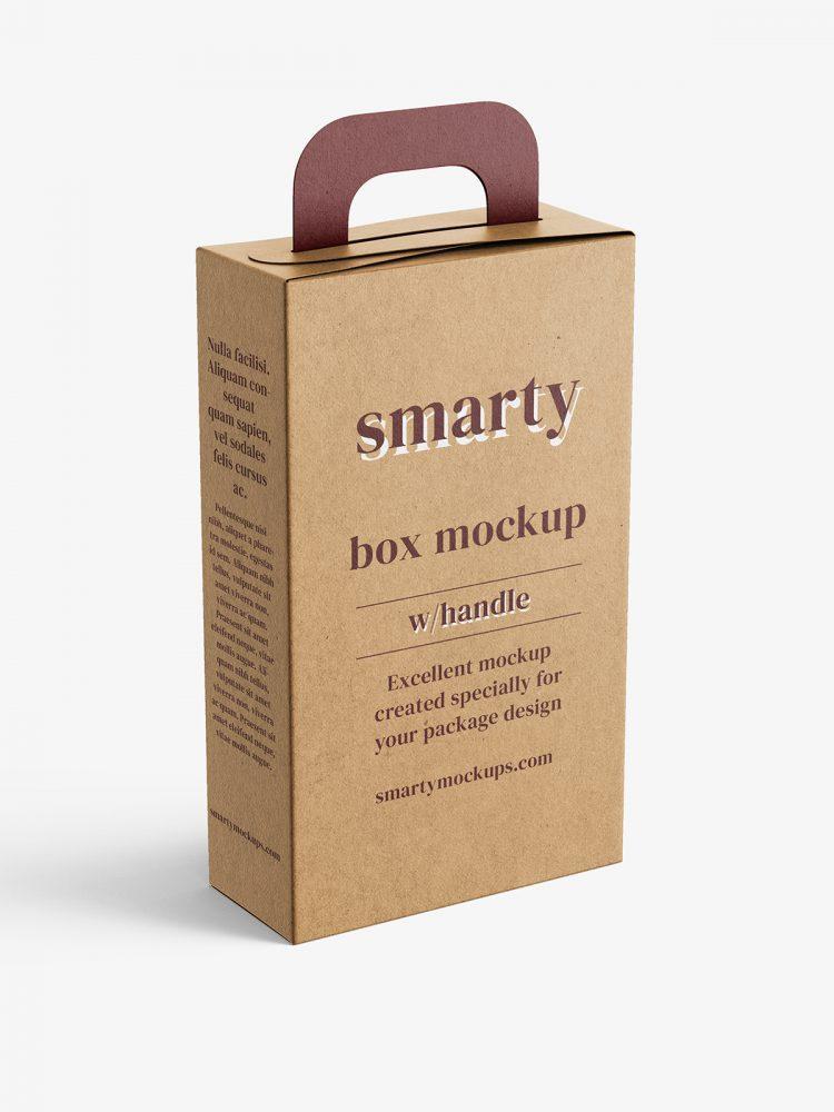 Box with handle mockup