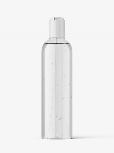 Cosmetic bottle with disctop / clear