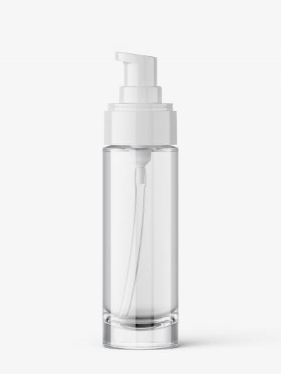 Clear airless bottle mockup