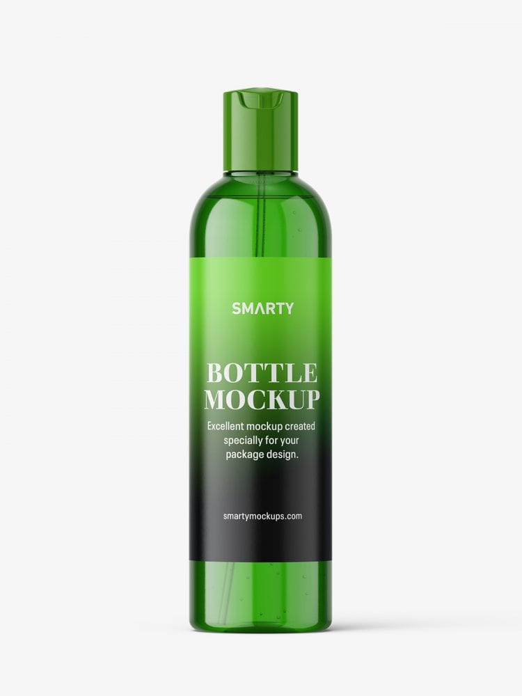 Cosmetic bottle with disctop / green