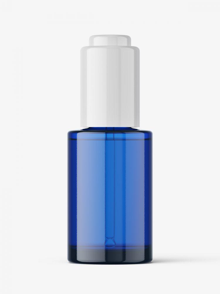 Auto loading dropper bottle mockup / blue