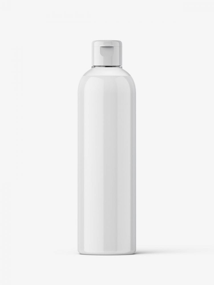 Cosmetic bottle with flip top / cream