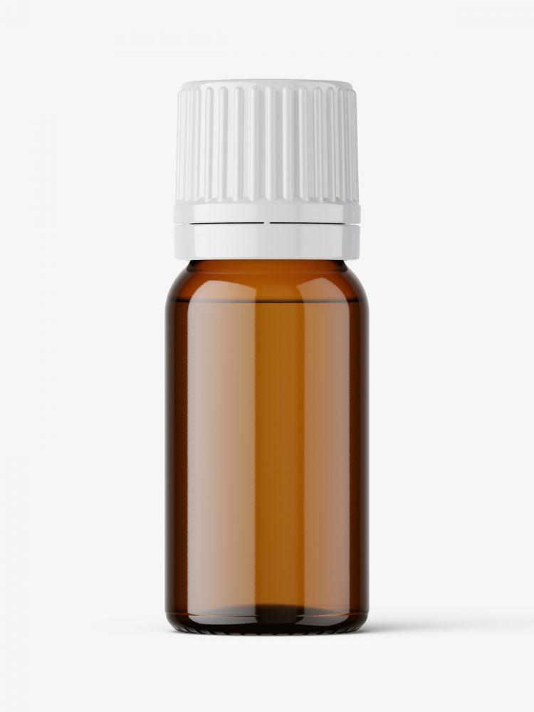 Essential oil bottle mockup / amber