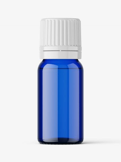 Essential oil bottle mockup / blue