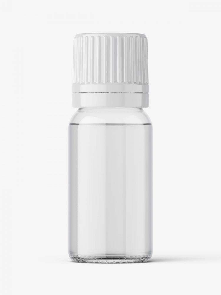Essential oil bottle mockup / clear