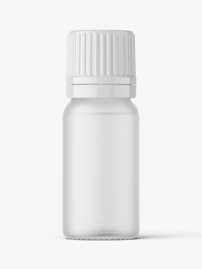 Essential oil bottle mockup / frosted