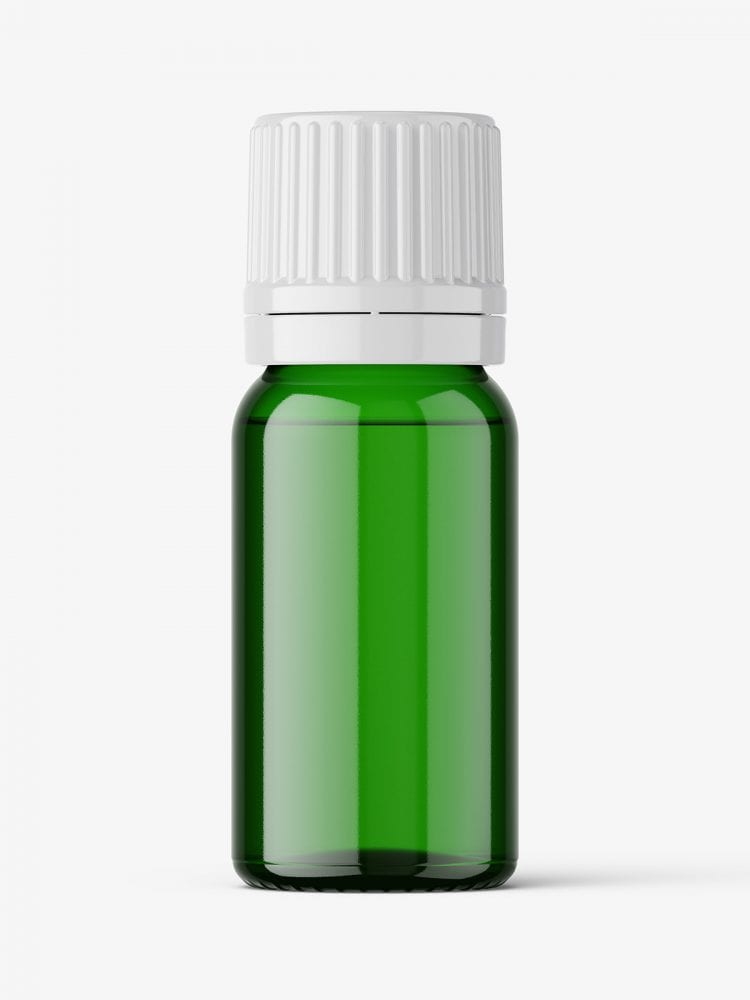 Essential oil bottle mockup / green
