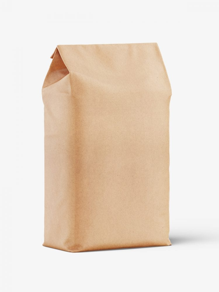 Kraft paper food pack mockup