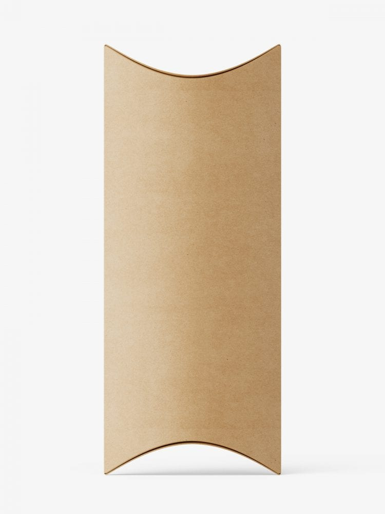 Kraft plaper pillow box mockup