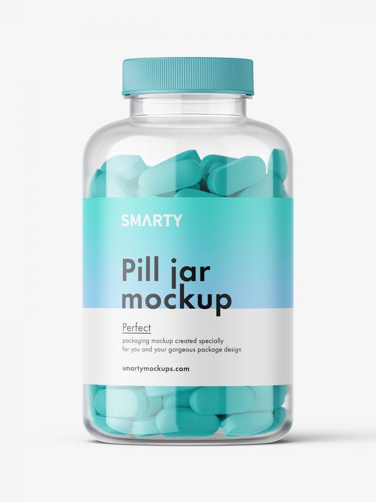 Pills jar mockup